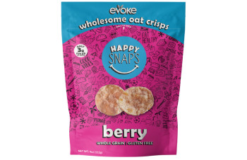 Evoke Oat Crisps - Berry (4oz Bag)