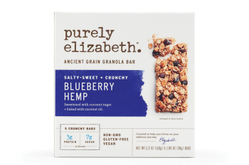 Purely Elizabeth Blueberry Hemp Ancient Grain Granola Bar (1.4oz Bar)
