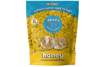 Evoke Oat Crisps - Honey (4oz Bag)