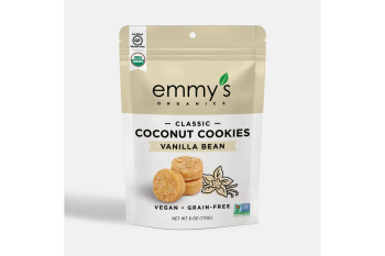 Emmy's Organic Coconut Cookie - Vanilla Bean (6oz Bag)